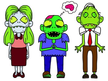Zombie Clipart for Commercial or Personal Use