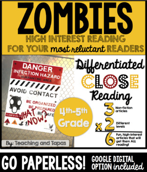 Zombie Close Reading (Differentiated)