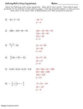 Acdcad E D Df Bfd F Af E E in addition Solve Two Step Algebraic Equations Step Version together with Thumb additionally Original likewise Hqdefault. on solving multi step equations worksheet algebra 2