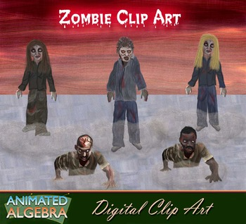 Zombie Digital Clip Art