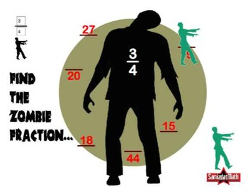 Equivalent Fractions & Zombies: Interactive SmartBoard Activity
