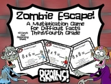 Zombie Escape! Multiplication Game for Difficult Facts- Grades 3-5