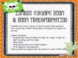 Zombie Escape Room and Room Transformation STAAR Prep