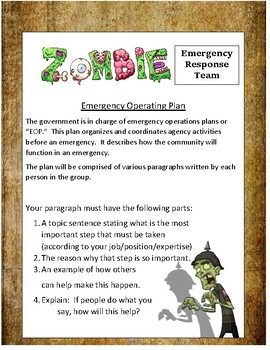 Zombie Expository Writing