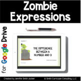 Zombie Expressions Digital Task Cards | Distance Learning