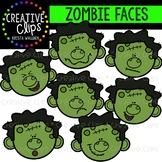 Zombie Faces: Halloween Clipart {Creative Clips Clipart}