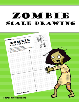 Zombie Girl Scale Drawing