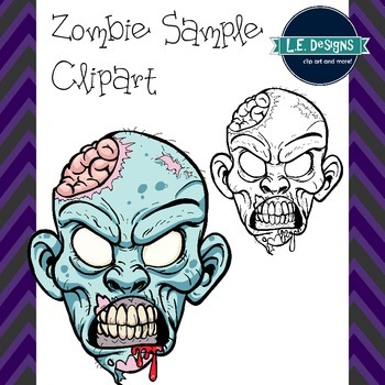 Zombie Head Sample Clipart