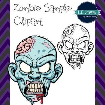 Zombie Head Sample Clipart