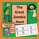 Equations Task Cards Activity Fun Zombie Hunt Common Core 8.EE.7