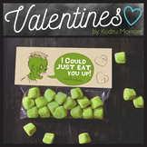 Zombie I Could Just Eat You Up Valentine Treat Topper