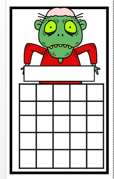 Zombie Incentive Chart Bookmarks