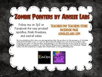 Zombie Kids Reading Pointers Freebie