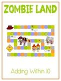 Zombie Land - Fun Math Folder Game - Adding to 10 - Common Core Aligned