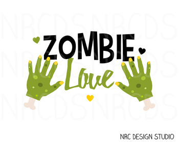 Zombie Love SVG Cutting File - Commercial Use SVG, DXF, EPS, png