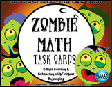 Zombie Math Task Cards: 2-Digit Addition & Subtraction wit