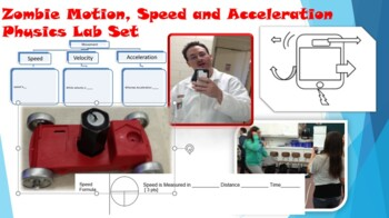 Zombie Motion, Speed and Acceleration Physics Lab set