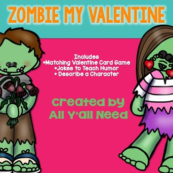 Zombie My Valentine: 3 Activities for Speech/Language Therapy