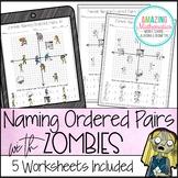 Zombie Naming Ordered Pairs Worksheet