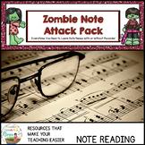 Valentine Zombie Music Note Attack Pack
