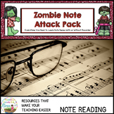Zombie Music Note Attack Pack 1