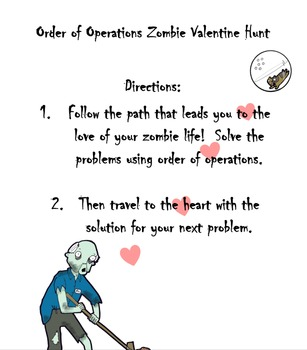 Zombie Order of Operations Valentine's Day Stations