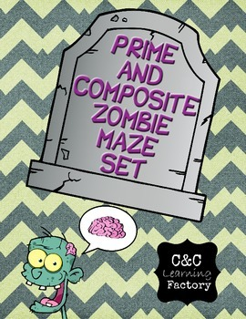 Zombie Prime and Composite Maze - SET OF 5!
