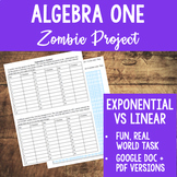 Zombie Project - Exponential vs Linear Growth Exploration