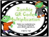 2 digit by 1 digit Zombie QR Code Multiplication & Color
