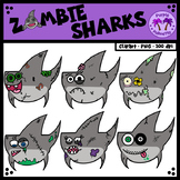 Zombie Sharks Clipart (Shark Week)