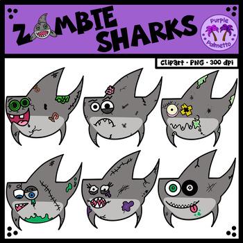 Zombie Sharks Clipart (Shark Week)