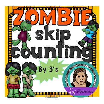 Zombie Skip Counting - Counting by 3's Worksheets