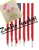 Zombie Skull Graphiti