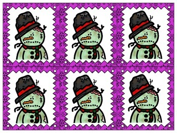 Zombie Snowman Grouping Cards