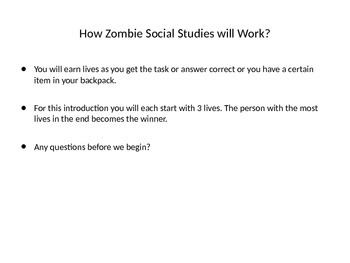 Zombie Social Studies for Middle School