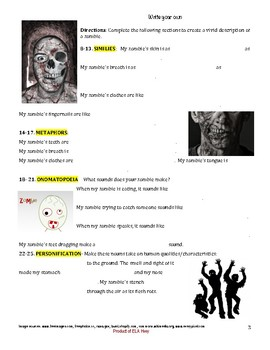 Zombie Themed Figuarative Language