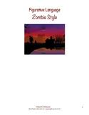 Zombie Themed Figuarative Language Worksheet: Halloween Fun