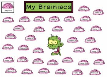 Zombie Themed Random  Student name Picker / Chooser - SMART Notebook