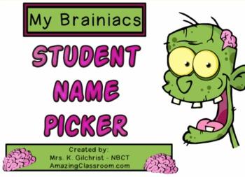 Zombie Themed Random  Student name Picker / Chooser - SMAR