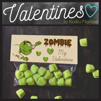 Zombie Valentine Treat Topper