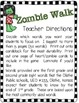 Zombie Walk Common Core Aligned Sight Word Game