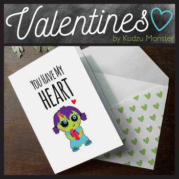 "Zombie ""You Have My Heart"" Valentine Card"