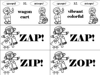 Zombie ZAP! Synonyms vs. Antonyms