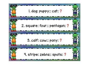 Zombie ZIP, ZAP, ZOP! Analogies