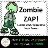 Zombie Zap Simple and Progressive Verb Tenses