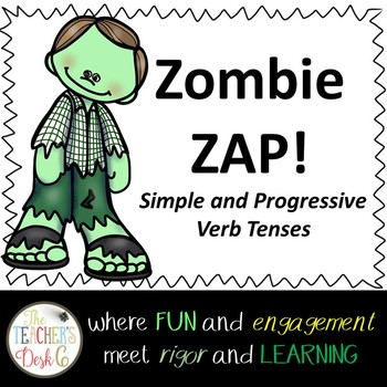 Zombie Zap Simple and Progressive Verb Tenses