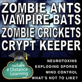 Zombie and Vampire Bundle! 4 Science Reading and Sub Plans