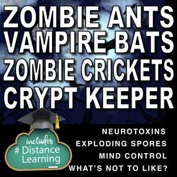 Zombie and Vampire Bundle! 3 Science Reading and Sub Plans