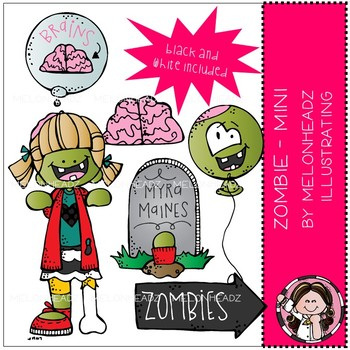 Zombie clip art - Mini - by Melonheadz