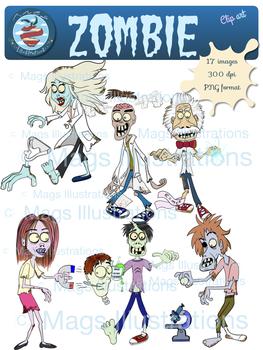 Zombie fun clipart